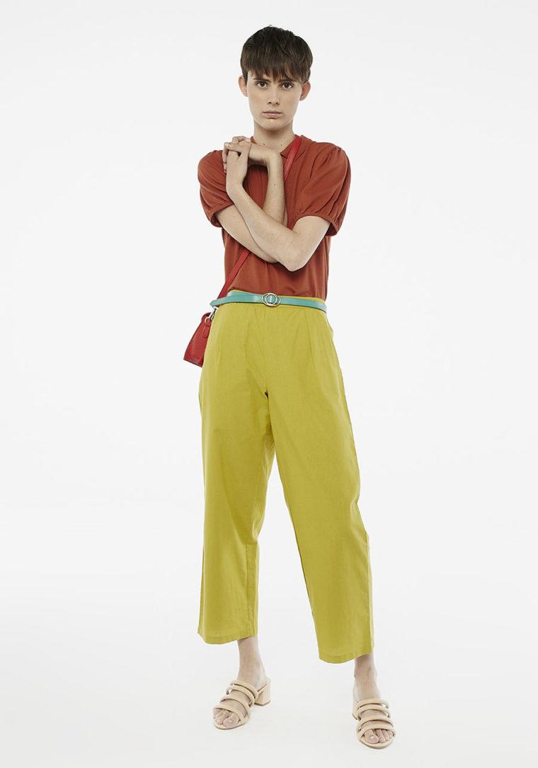 Green Ankle Grazer Peg Trousers Compania Fantastica