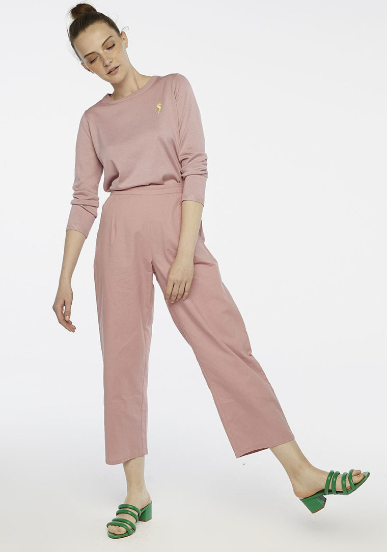 Pink Ankle Grazer Peg Trousers Compania Fantastica