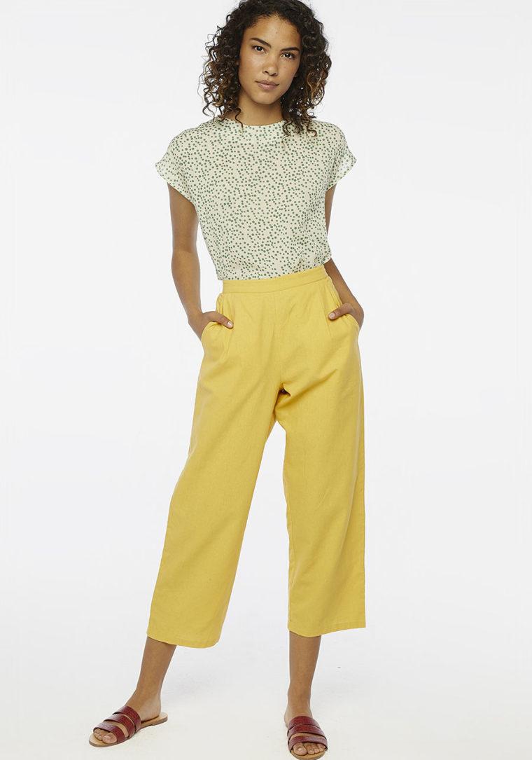 Yellow Ankle Grazer Peg Trousers Compania Fantastica
