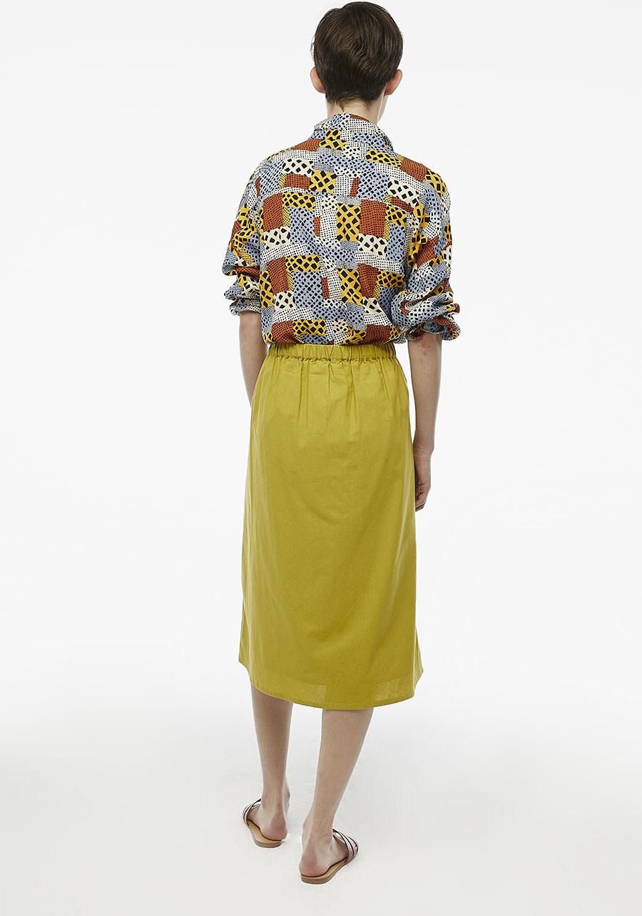 Green Buttoned Midi Skirt Compania Fantastica