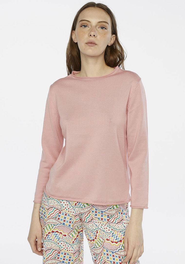 Pastel Pink Round Neck Jumber Compania Fantastica