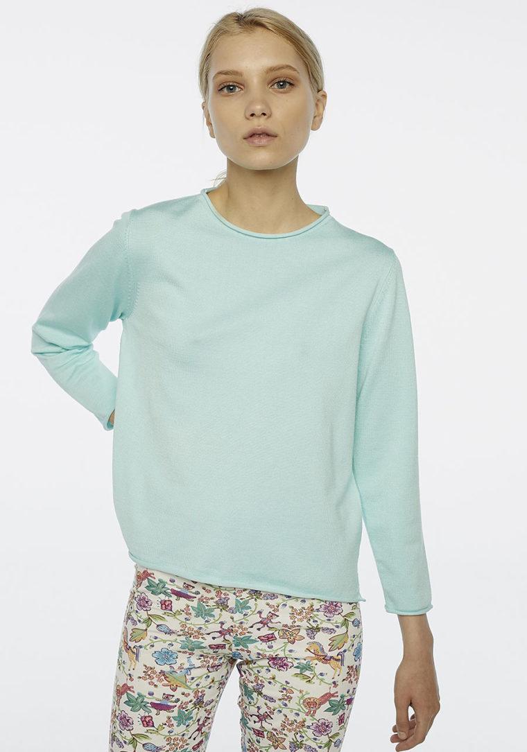 Pastel Blue Round Neck Jumber Compania Fantastica