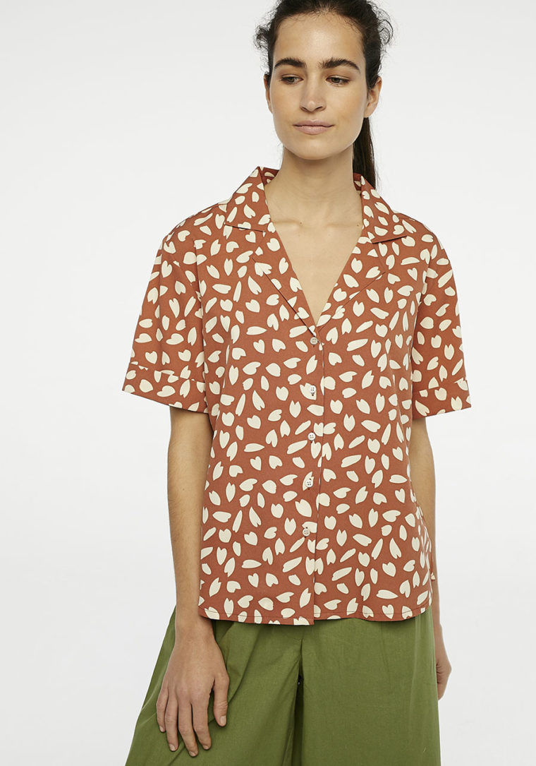Brown Petal Shirt Compania Fantastica