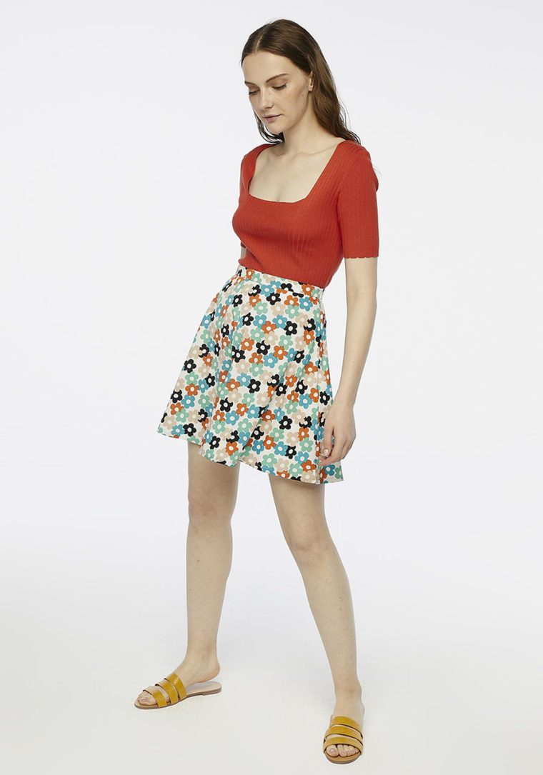 Multicoloured Daisy Skirt Compania Fantastica