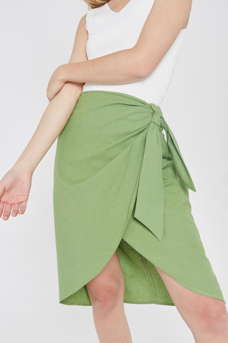 Green Wrap Skirt Wild Pony