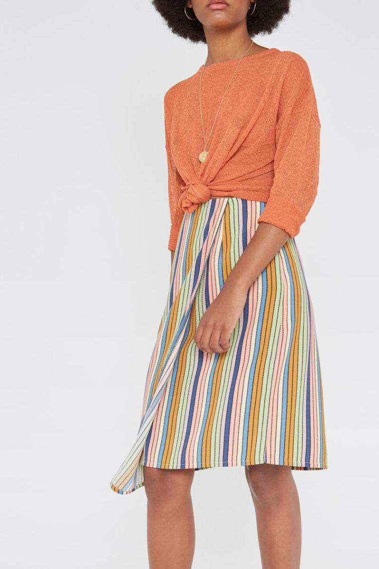 Pastel Striped Skirt Wild Pony