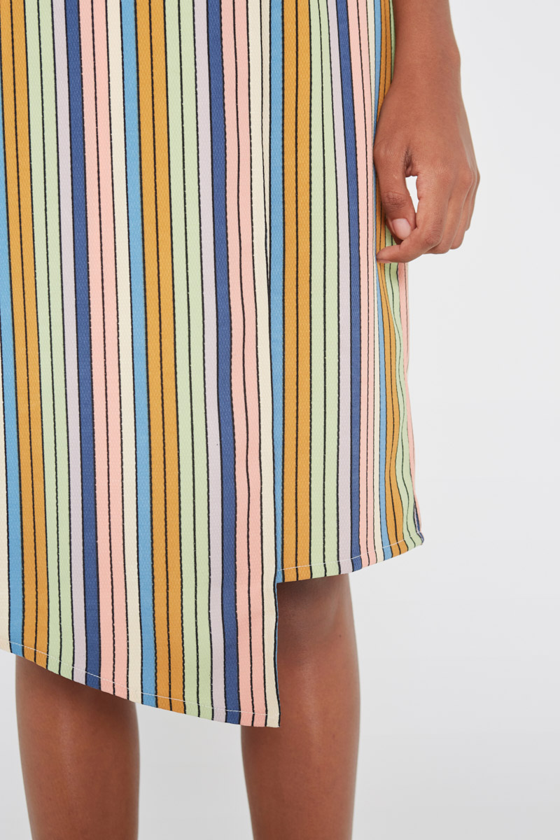 Pastel Striped Skirt Wild Pony