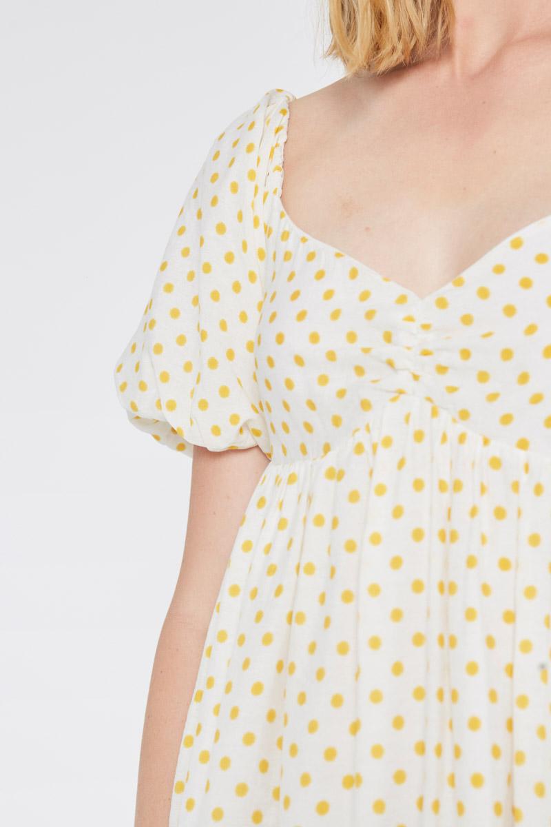 Baby Doll Dress With Yellow Polka Dots Wild Pony
