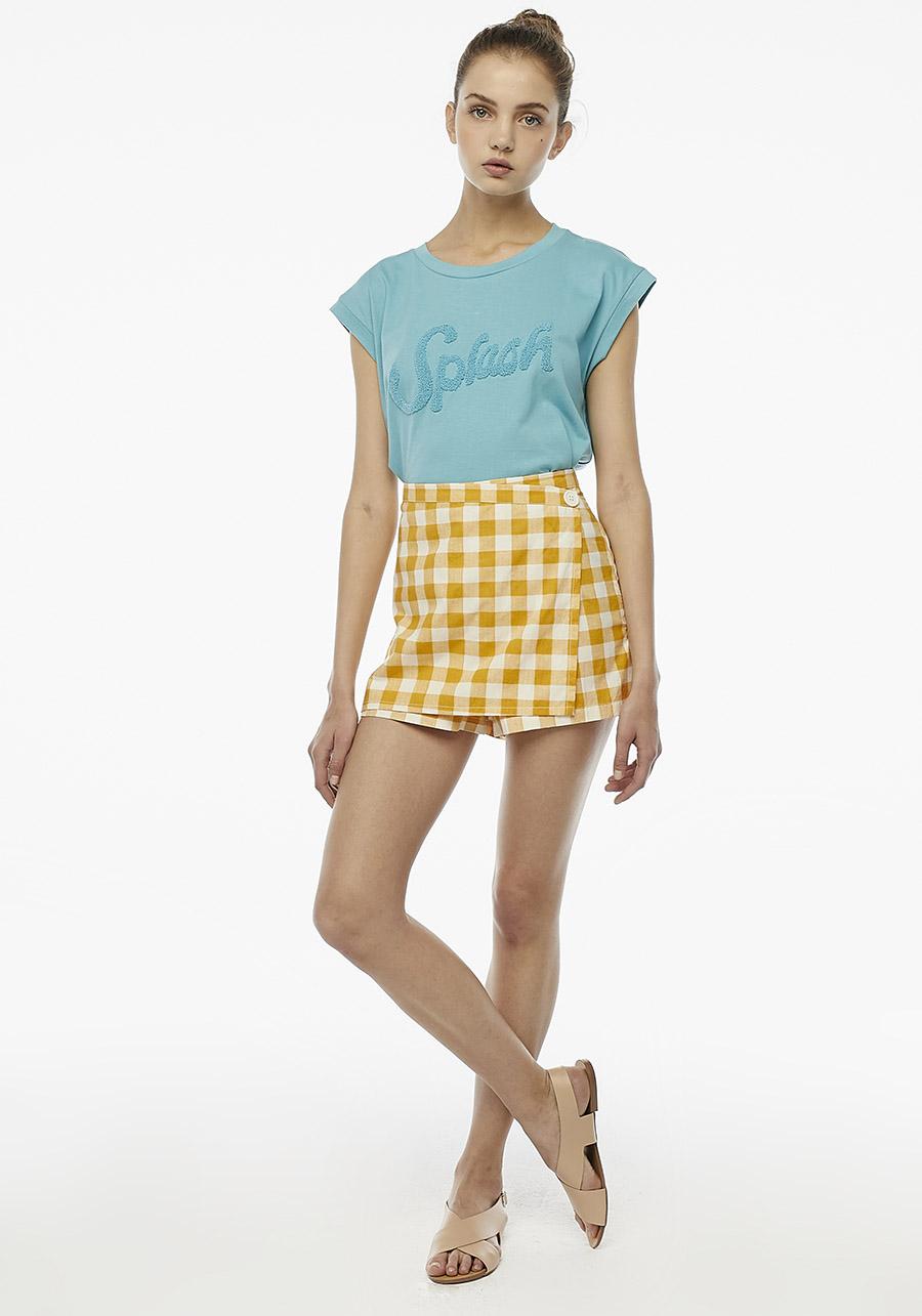 Yellow Check Culottes Compania Fantastica