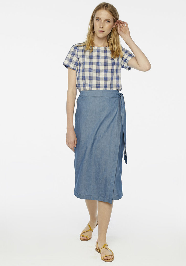 Denim Blue Midi Skirt Compania Fantastica