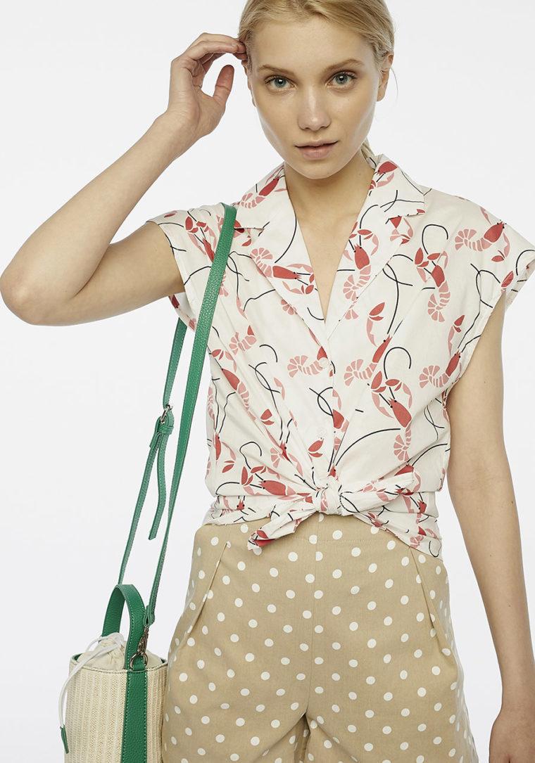 Lobster Print Pyjama Top Compania Fantastica