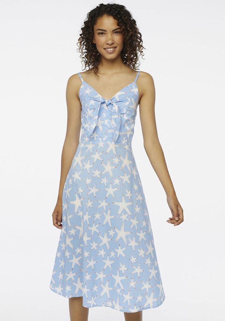 Starfish Print Midi Dress Compania Fantastica