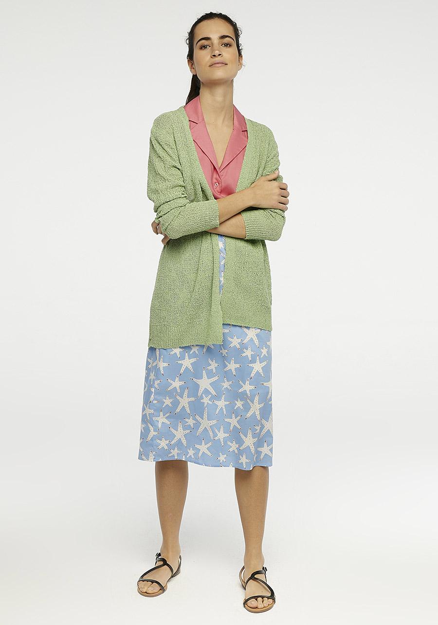 Starfish Print Midi Skirt Compania Fantastica