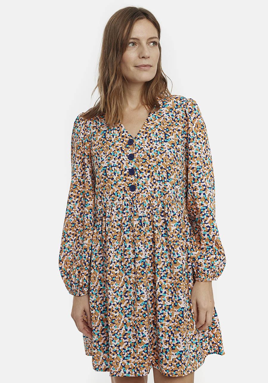 Babydoll Dress With Confetti Print Compania Fantastica