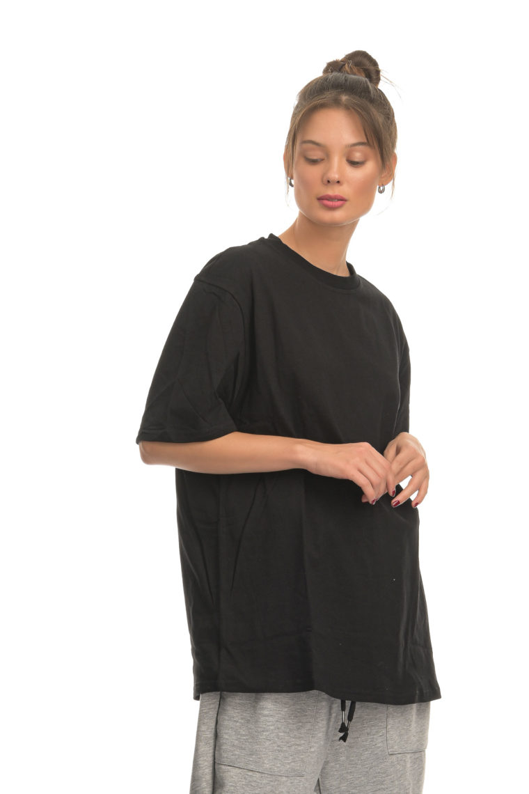 Athletic Loose Black T-shirt