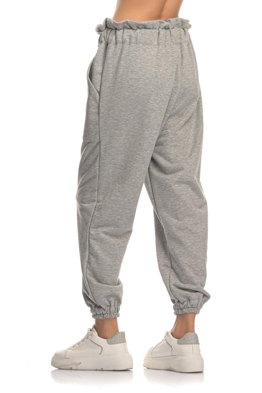 Grey Balloon Cotton Pants