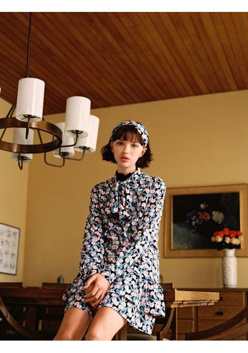 Blue Retro Floral Print Shirt Compania Fantastica