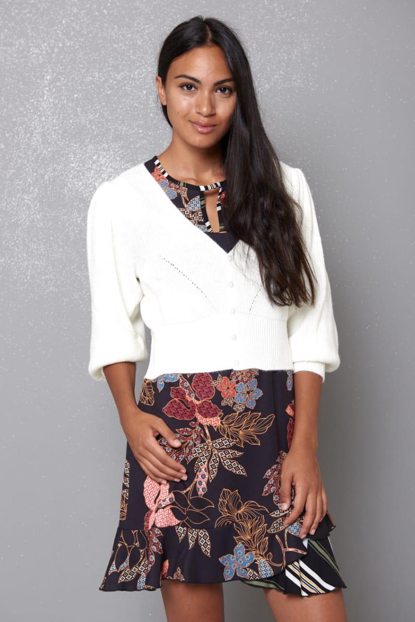 Amelia Black Floral Dress Kikisix
