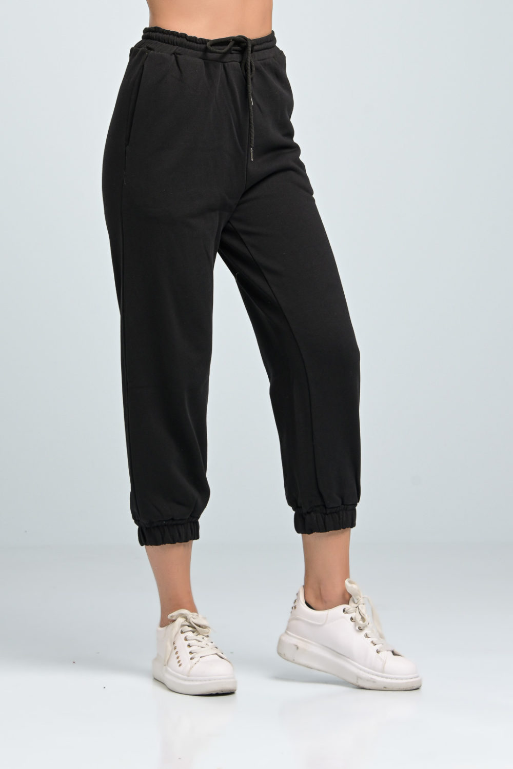 Classic Black Cotton Pants
