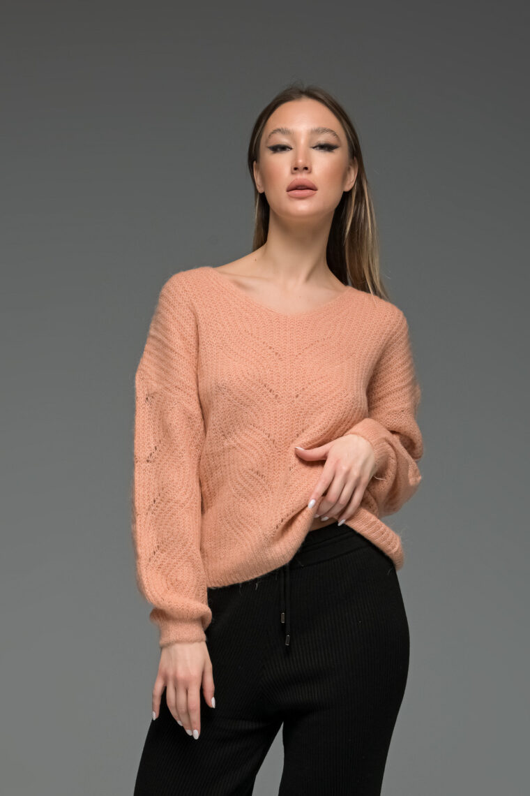 Salmon Mohair Sweater
