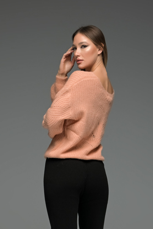 Salmon Mohair Sweater