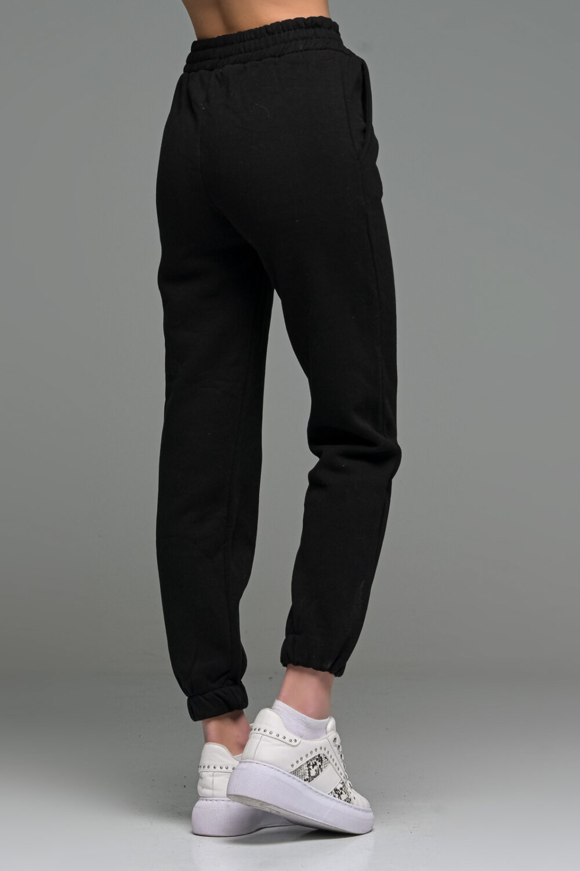 Black Cropped Joggers Set