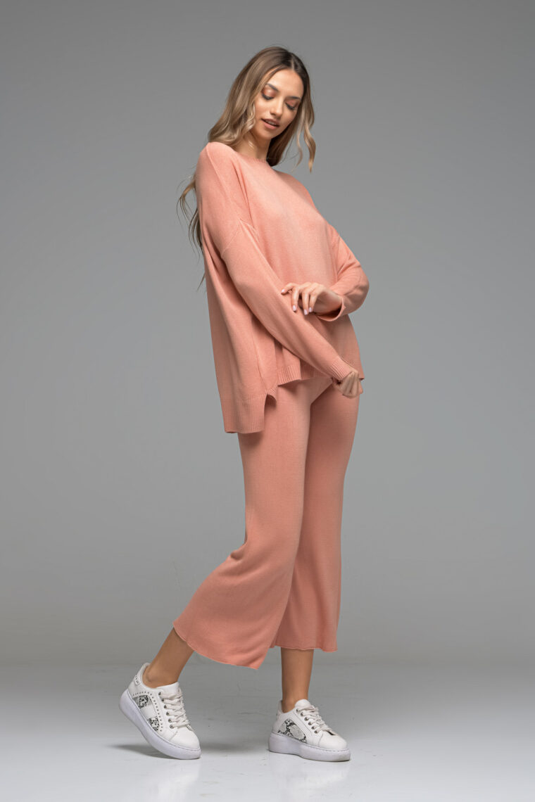 Peach Oversized Knit Set