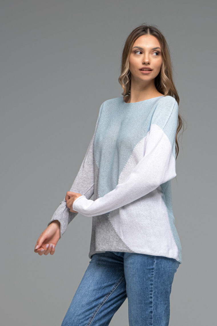 Oversized Block Knit Blouse