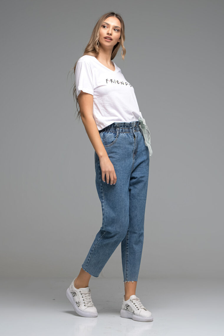Blue Baggy High Waist Jeans