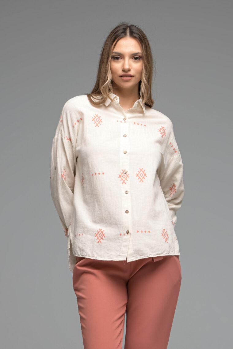 Beige Indian Shirt