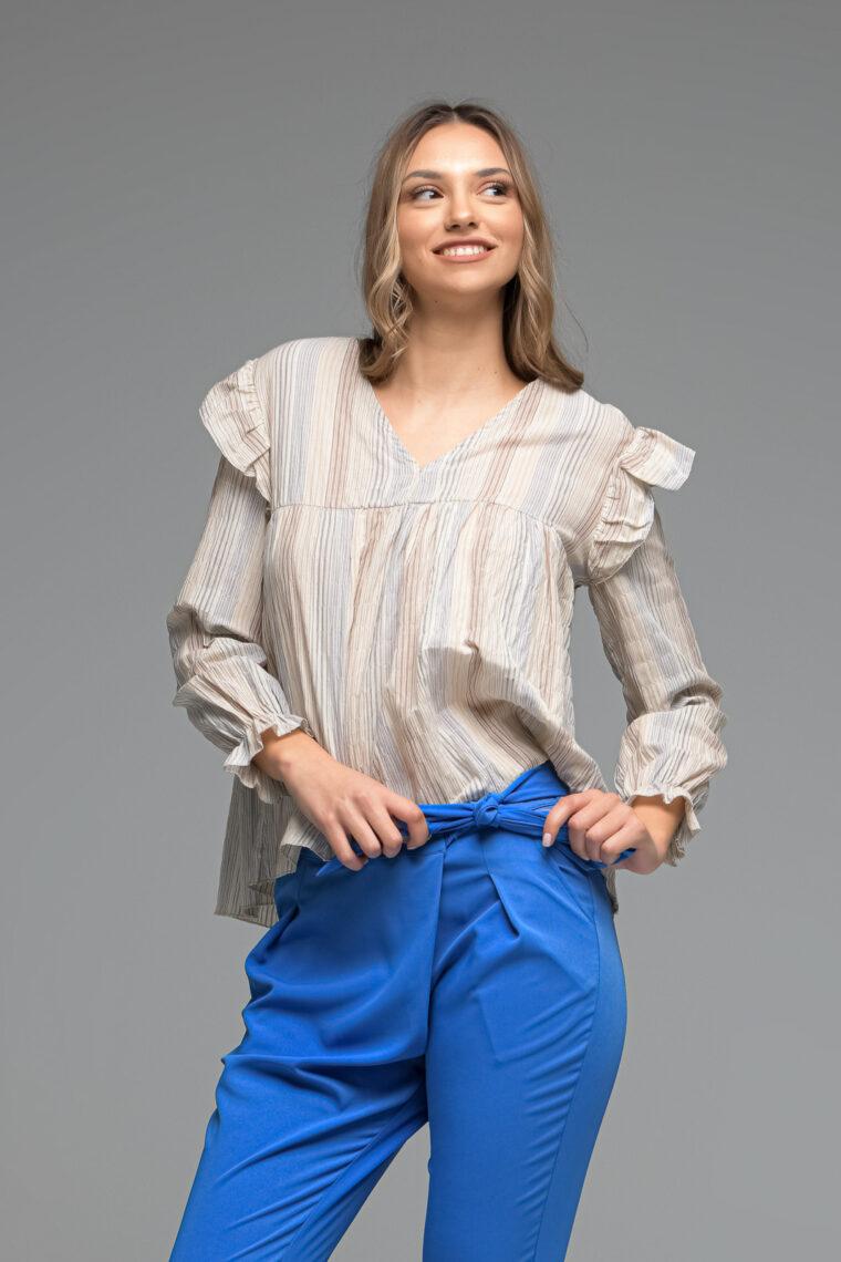Multicolour Striped Blouse