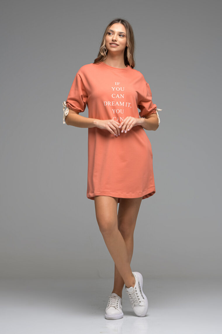 Coral Sweat Dress