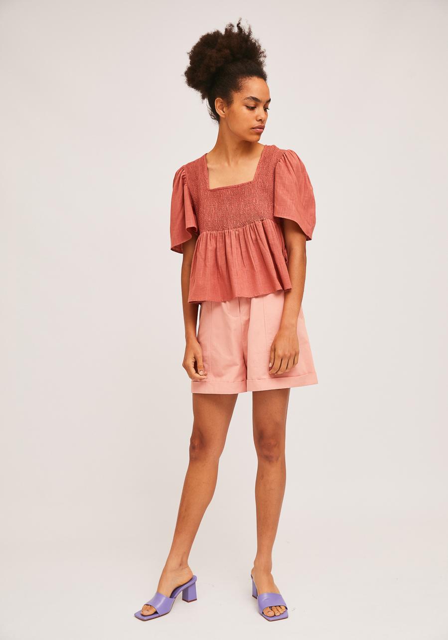 Ροζ Μπλούζα Με Σφηκοφωλιά Compania Fantastica