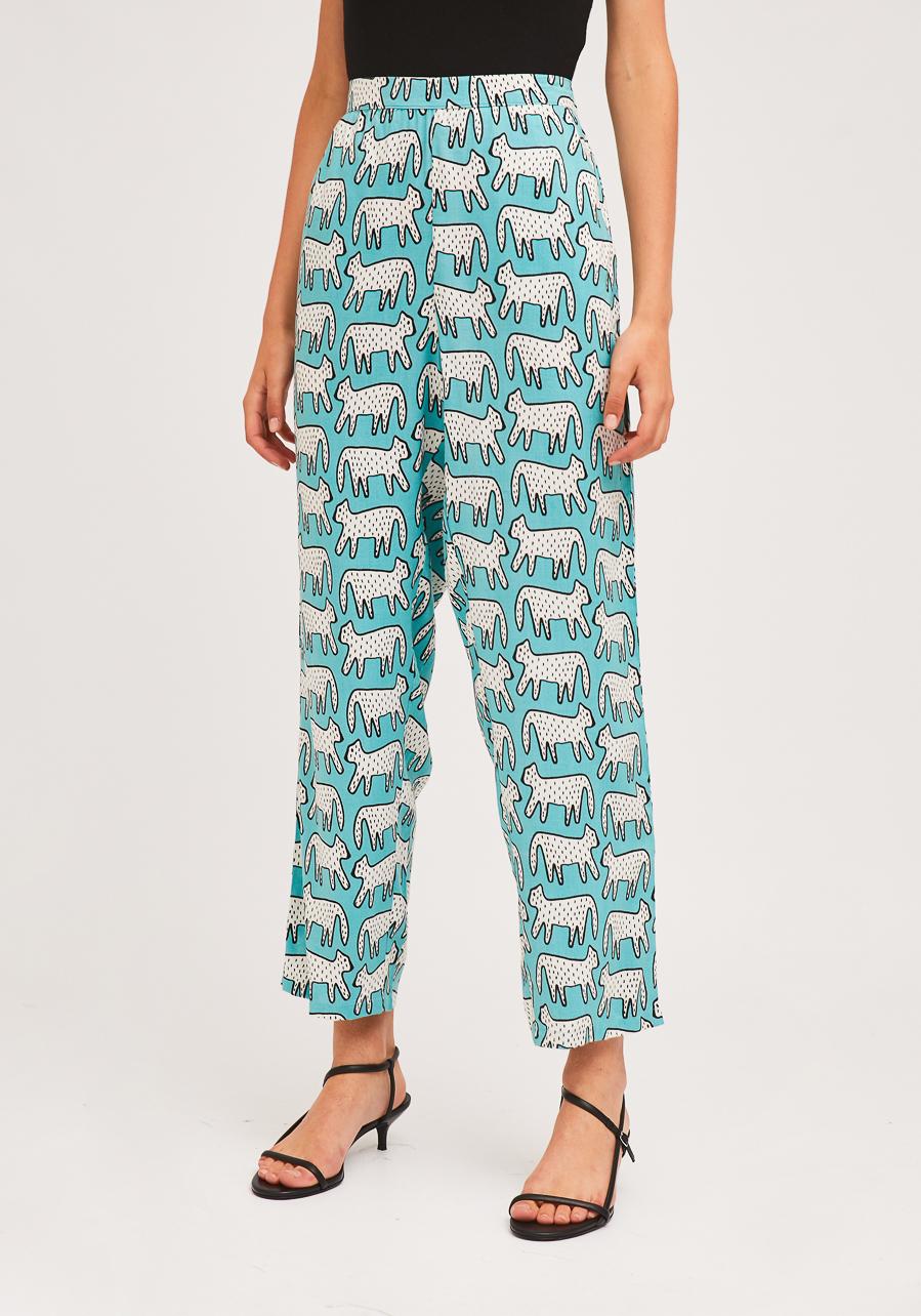 Μπλε Παντελόνι Με Dalmatian Print Compania Fantastica