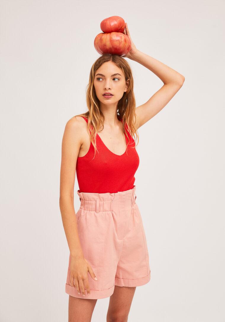 Ροζ Ψηλόμεσο Shorts Compania Fantastica