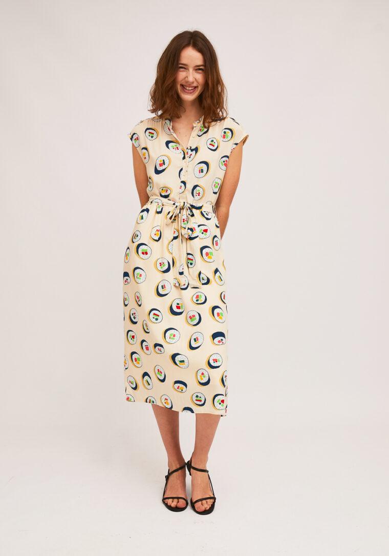 Φόρεμα Midi Με Sushi Print Compania Fantastica
