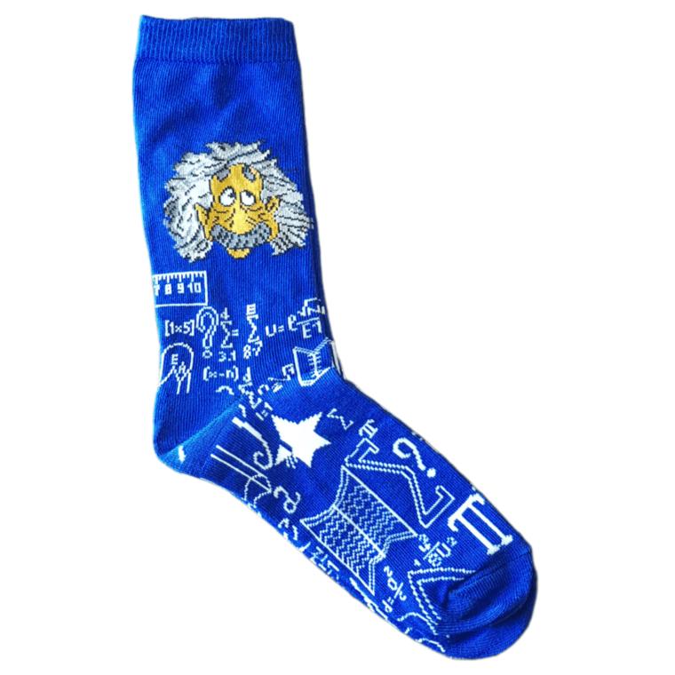 Μπλε Ζευγάρι Κάλτσες Με Print Einstein