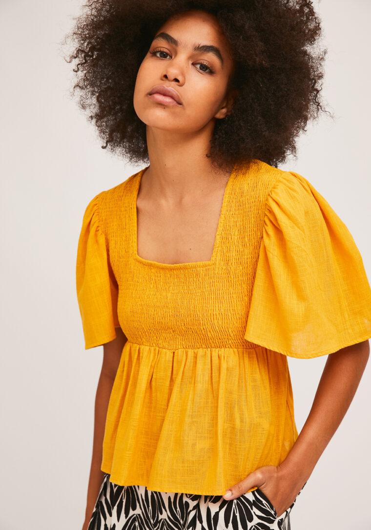 Κίτρινη Μπλούζα Με Σφηκοφωλιά Compania Fantastica
