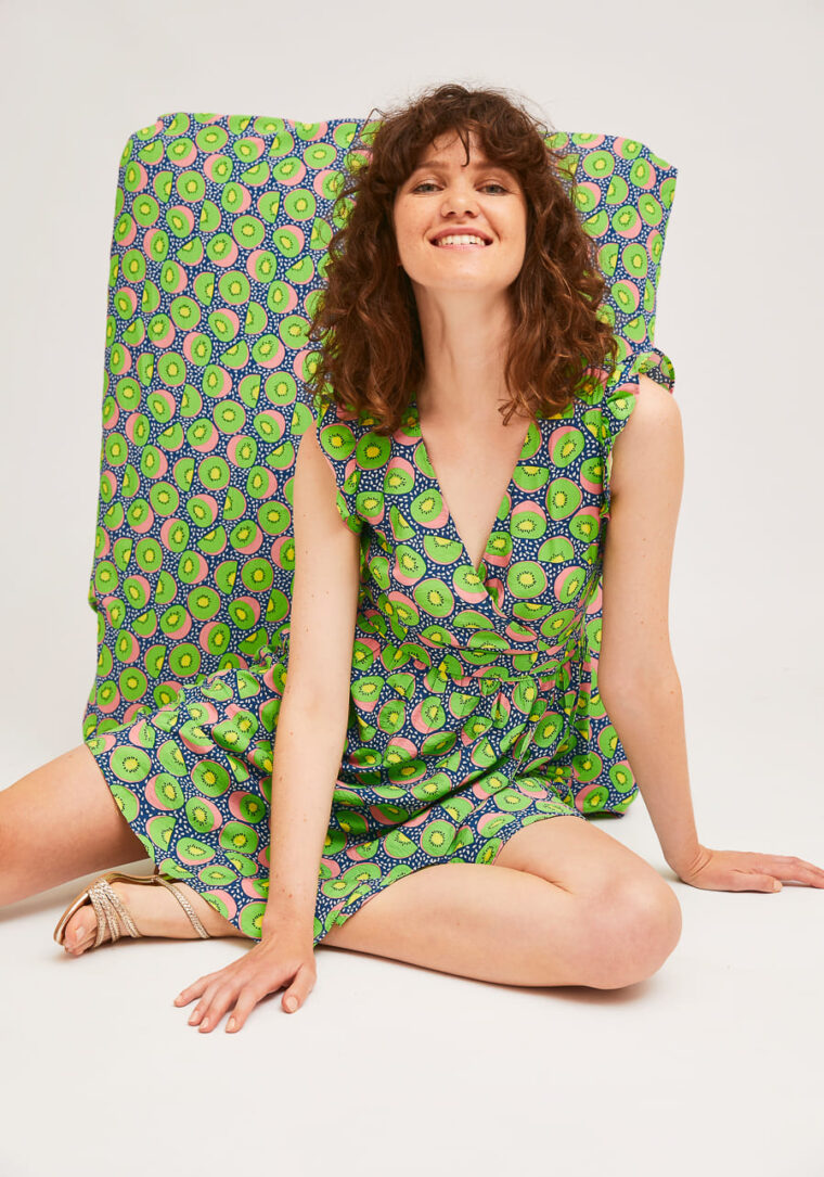 Mini Κρουαζέ Φόρεμα Με Print Ακτινίδιο Compania Fantastica