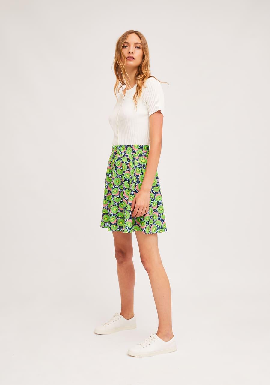 Mini Φούστα Με Print Ακτινίδιο Compania Fantastica