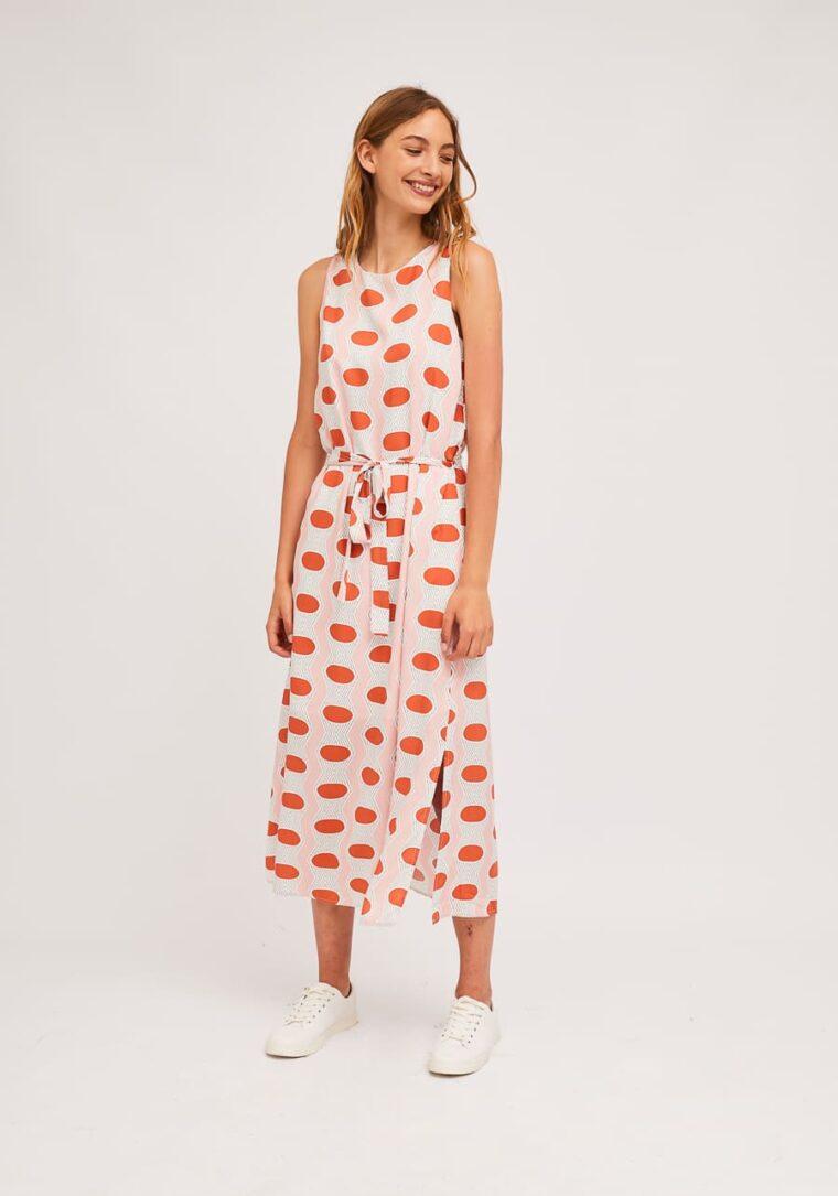 Μακρύ Φόρεμα Με Γεωμετρικά Οβάλ Print Compania Fantastica