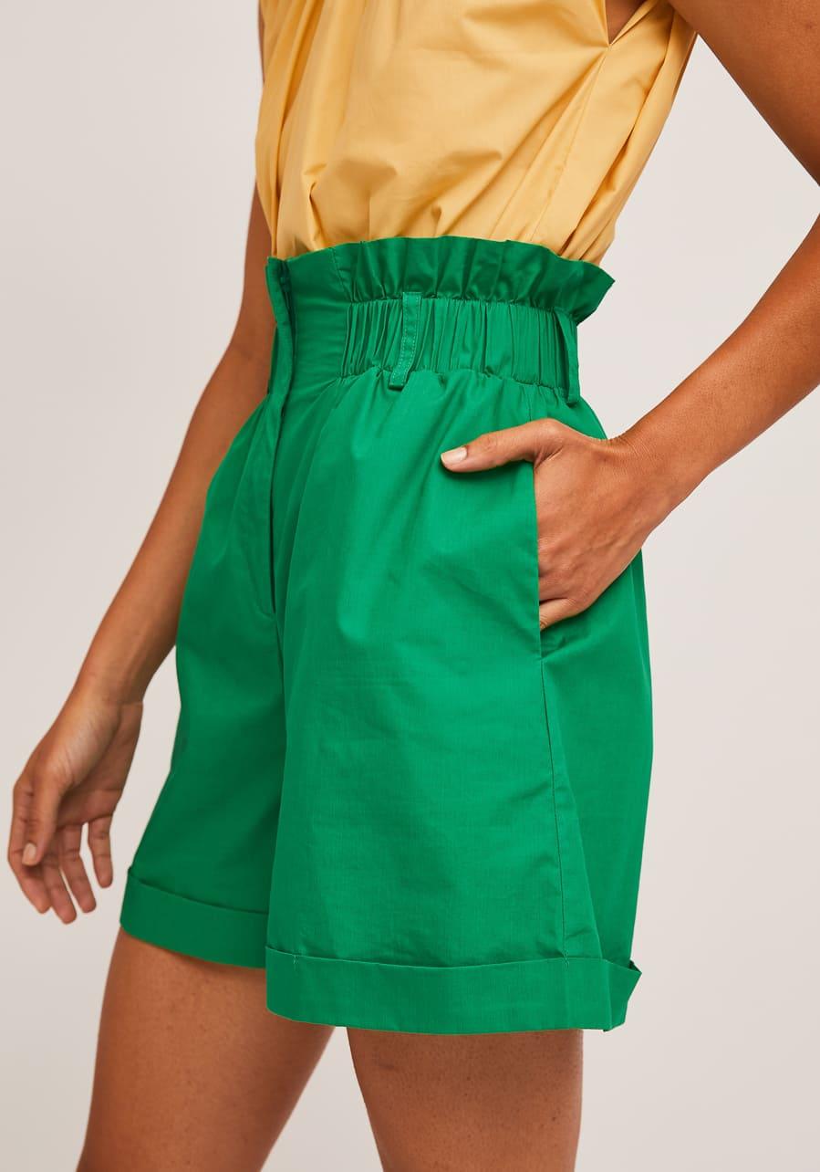 Πράσινο Ψηλόμεσο Shorts Compania Fantastica