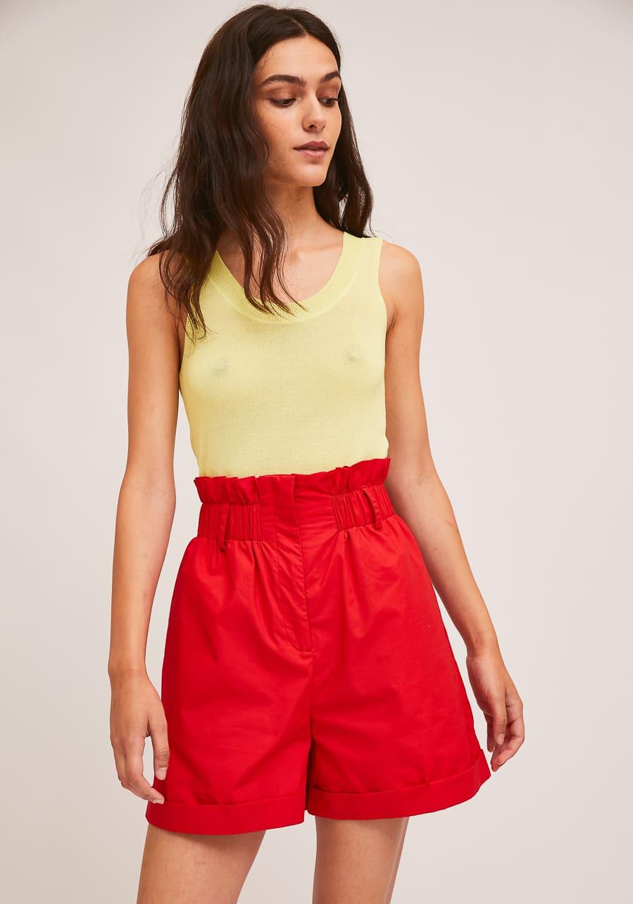 Κόκκινο Ψηλόμεσο Shorts Compania Fantastica