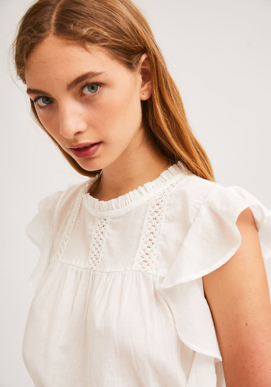 Λευκή Βαμβακερή Μπλούζα Compania Fantastica