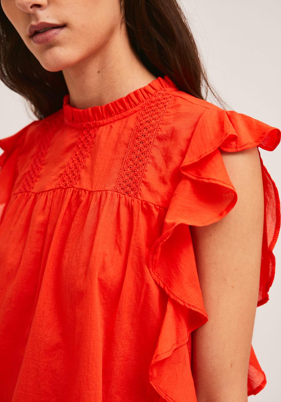 Κόκκινη Βαμβακερή Μπλούζα Compania Fantastica