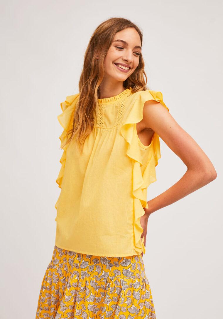 Κίτρινη Βαμβακερή Μπλούζα Compania Fantastica