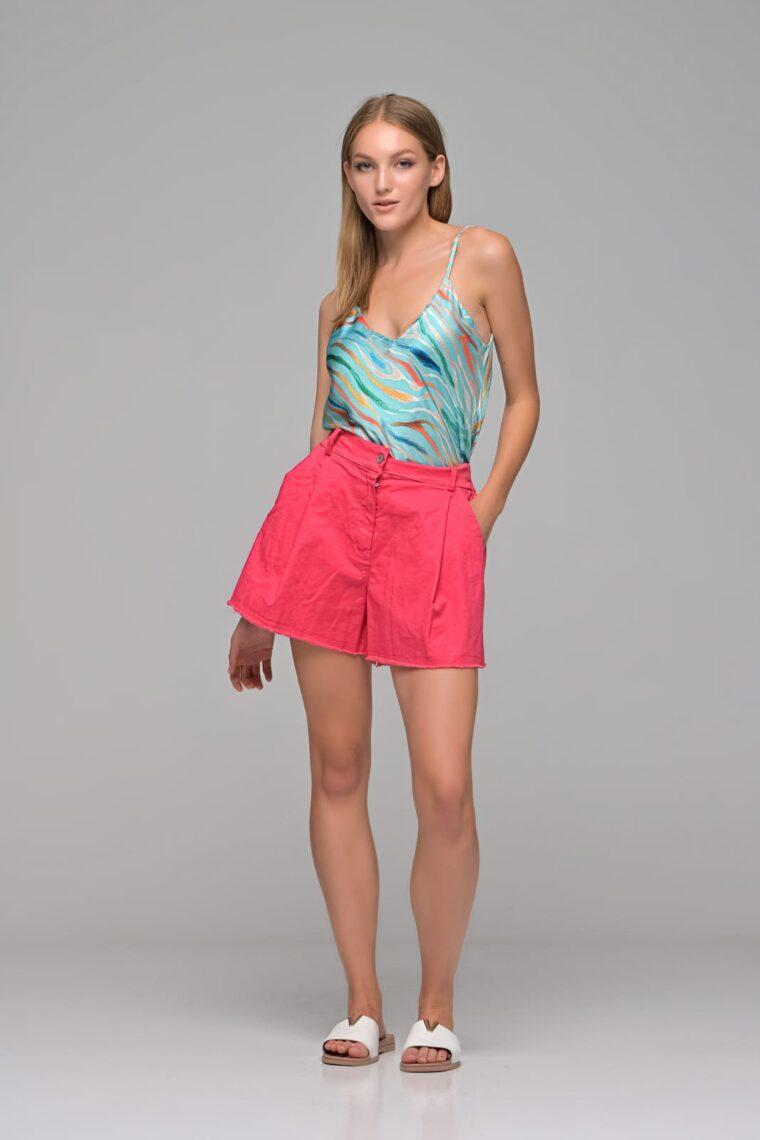 Φούξια Jean Shorts
