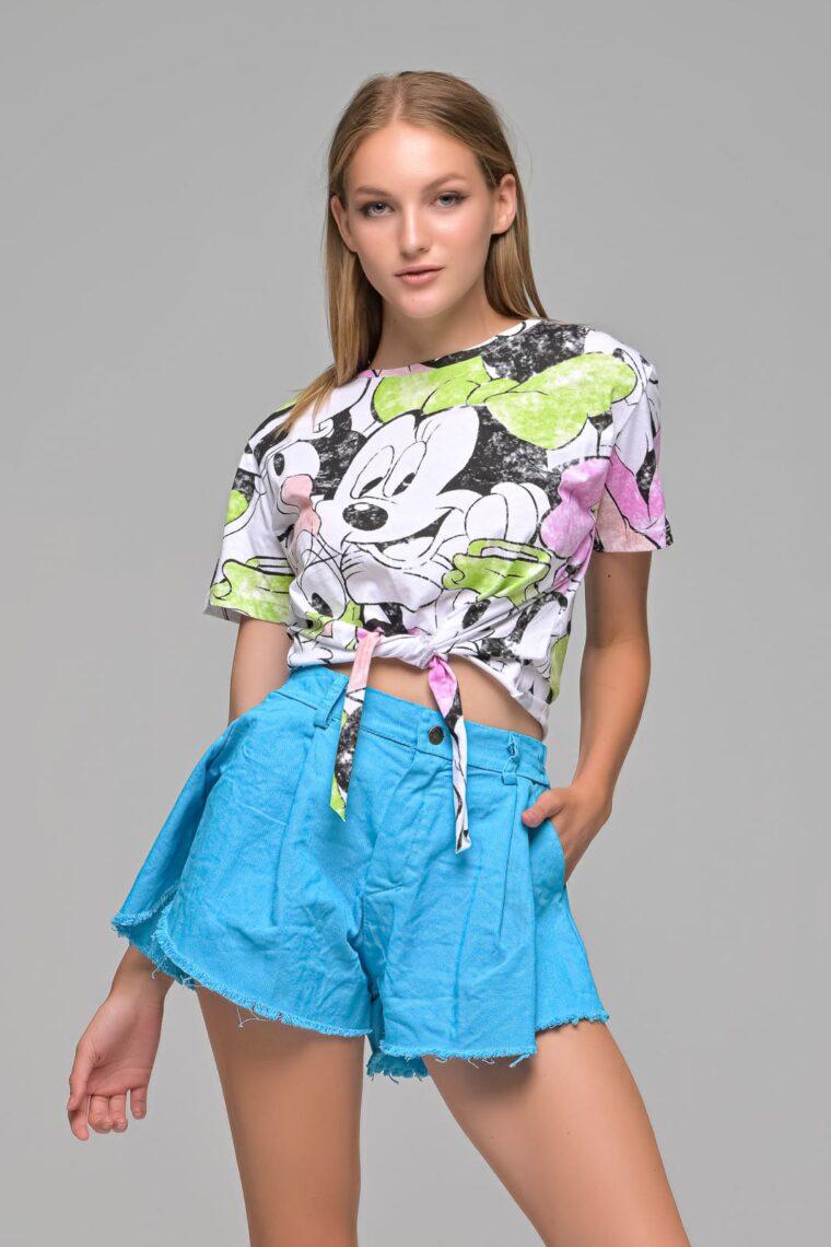 Crop T-shirt Με Σχέδια