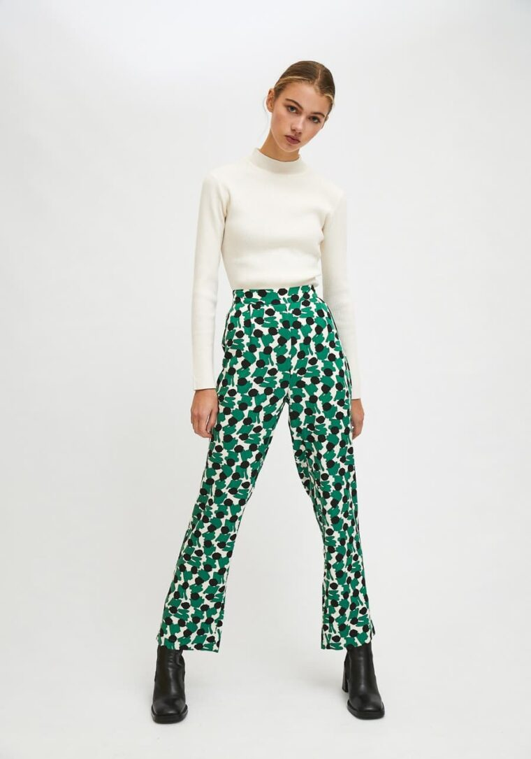 Πράσινο Παντελόνι Με Γεωμετρικά Οβάλ Print Compania Fantastica