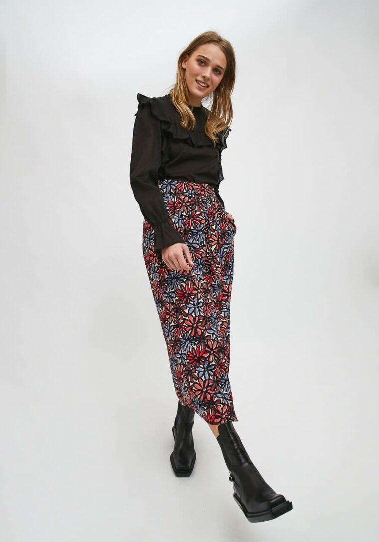 Midi Φούστα με Print Μαργαρίτες Compania Fantastica